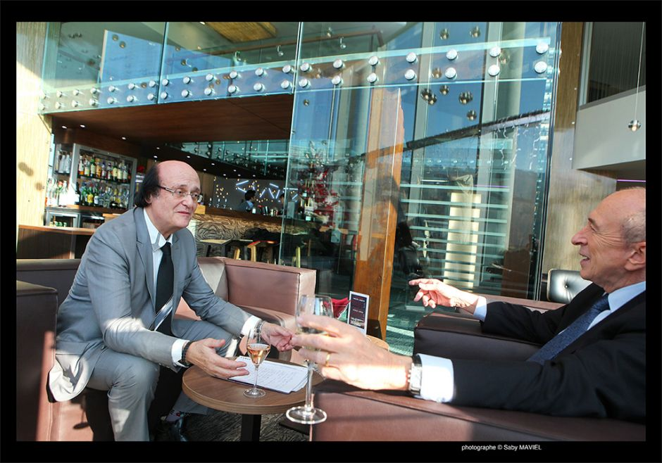 Gérard Collomb le maire de lyon avec Marmor