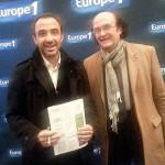 Marmor Voyant avec Nikos Aliagas à Lyon pour la fête des lumières 2014