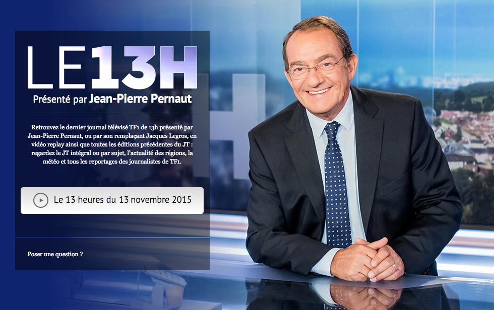 Marmor sur TF1 dans le JT de 13h présenté par Jean-Pierre Pernaut :)